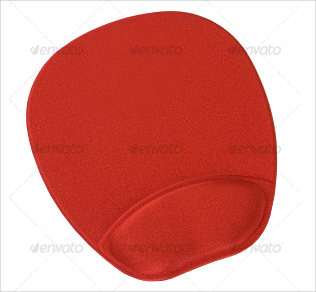 Red Mouse Pad Mockup Design