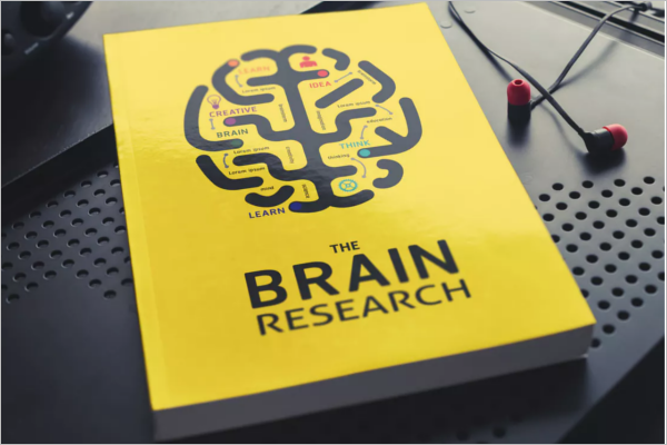 Research Book Cover Mockup Template
