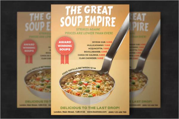 Resizable Restaurant Flyer Design