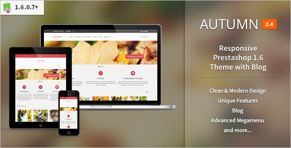 Responsive Prestashop Website Theme