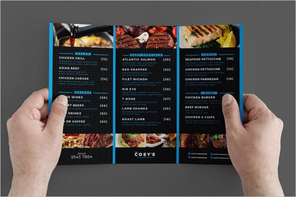 Restaurant A4 Design Menu