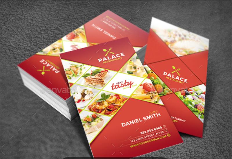 Restaurant AD Business Card Template
