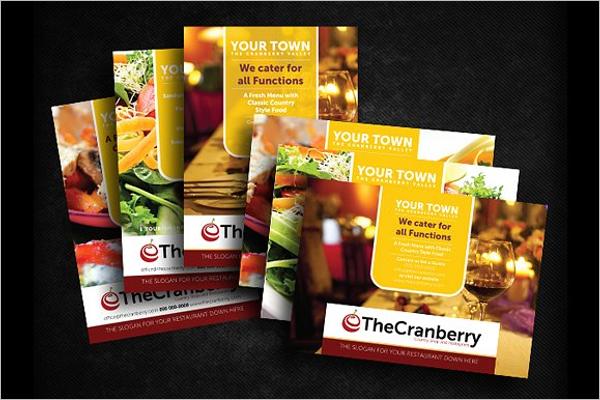 Restaurant Advert Flyer Design