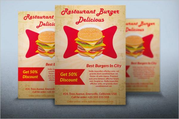 Restaurant Burger Food Flyer PSD