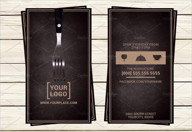 Restaurant Business Card Design Template