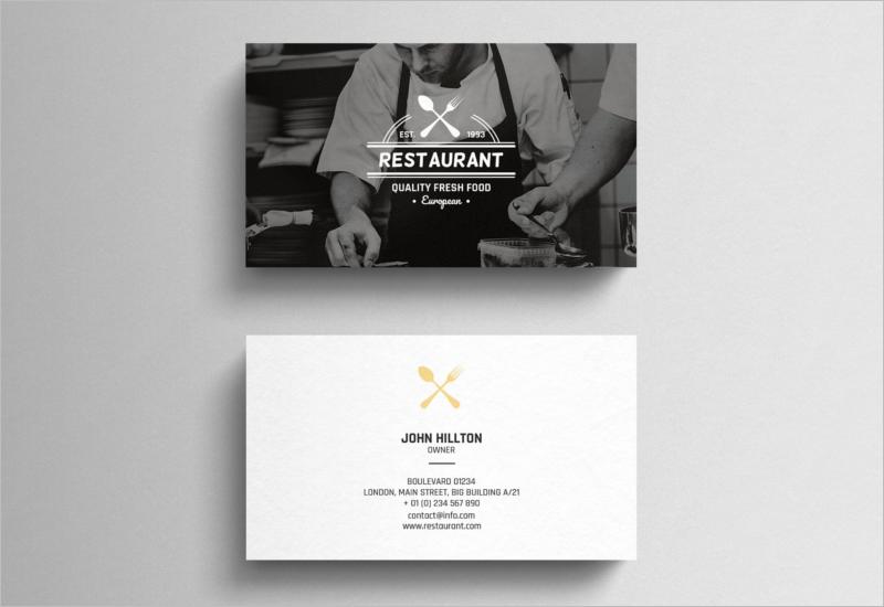 Restaurant Business Card Elegant Design