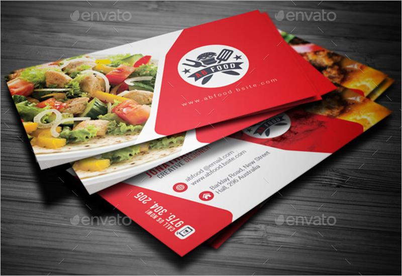 Restaurant Business Card PSD Template