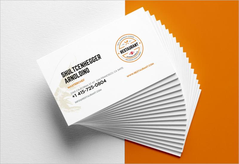 Restaurant Business Card Templates