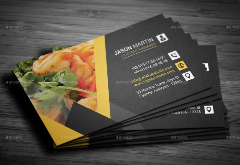 Restaurant Business Card Vector Template
