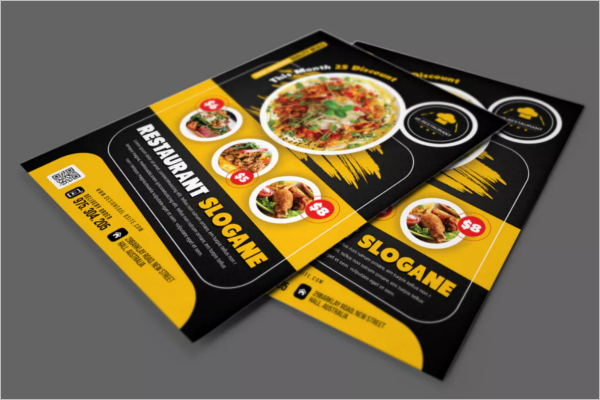 restaurant catering flyer template