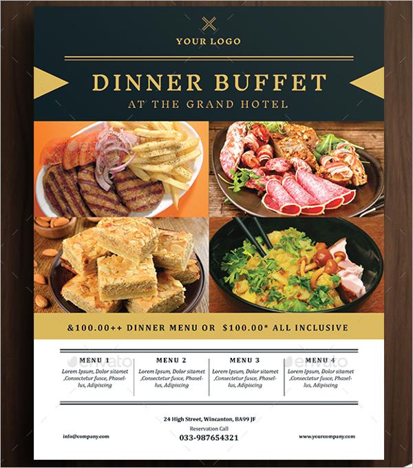 Restaurant Dinner Promotion Flyer Design