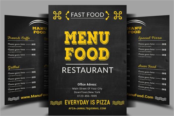 Restaurant Fast Food Menu Design
