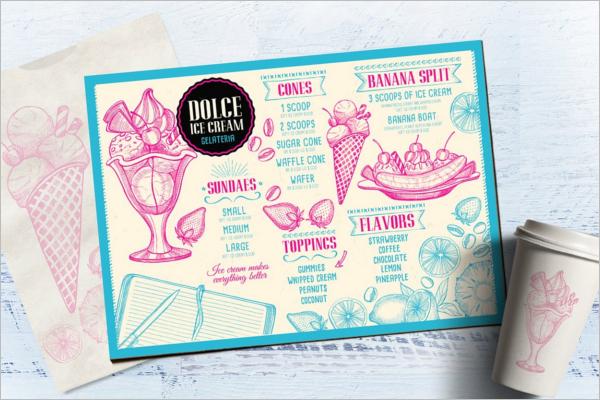 Restaurant Flyer Design Illustration