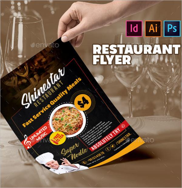 Restaurant Flyer Design Vector
