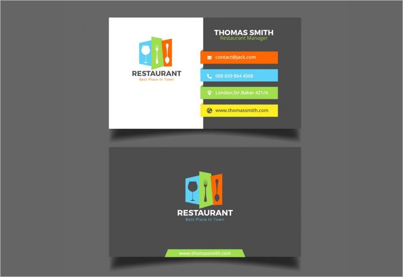 Restaurant Food Business Card Free Design