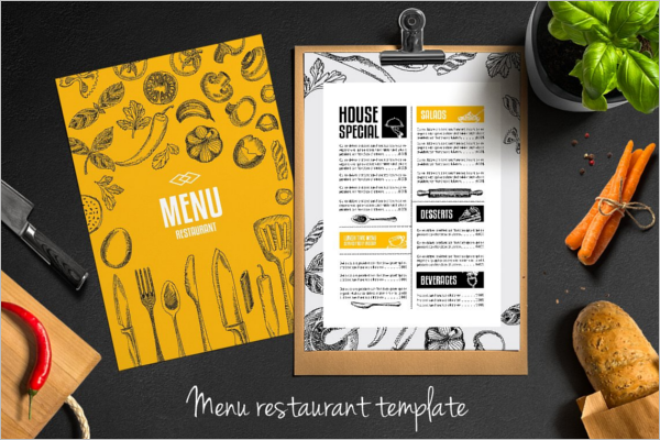 Restaurant Fresh Food Menu Design
