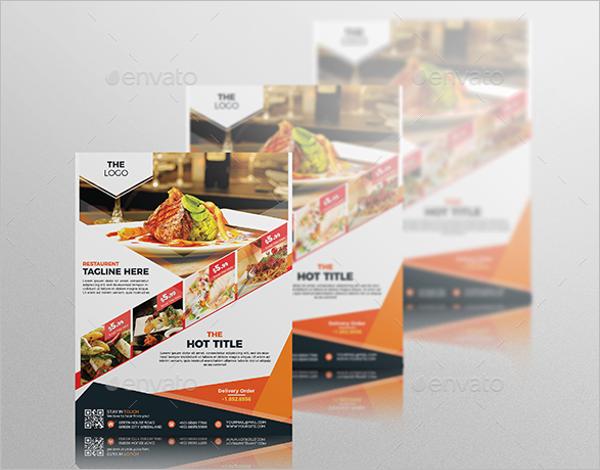 Restaurant Leaflet Design Flyer