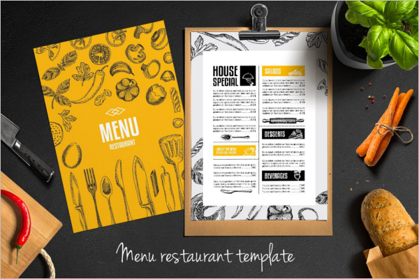 Restaurant Menu Card Flyer Design