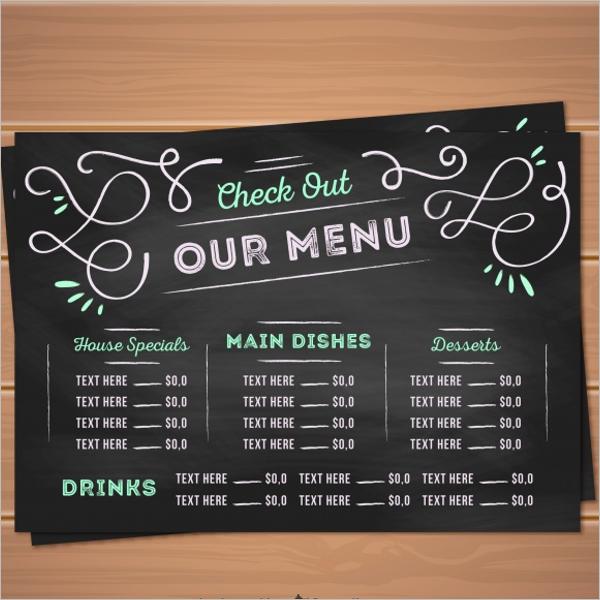 Restaurant Menu Card Free Design