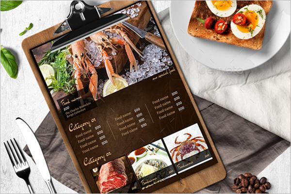 Restaurant MenuDesign For Sea Food