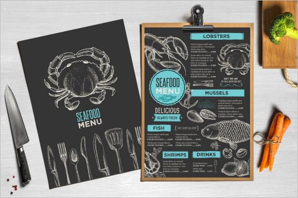 Restaurant Menu Design Illustrator