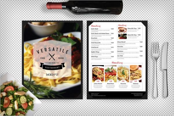 Restaurant Menu PhotoShop Design
