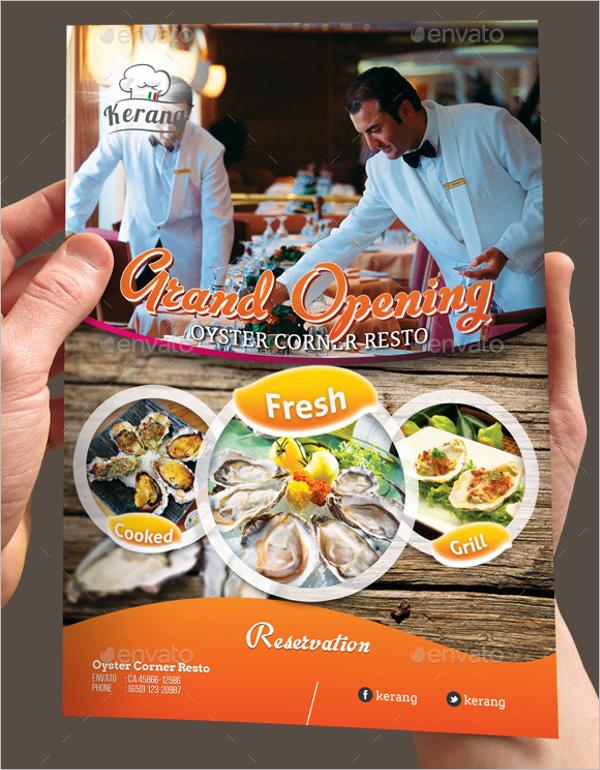Restaurant Opening Flyer Design