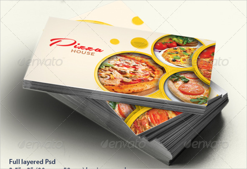 45 restaurant business cards templates psd designs restaurant pizza business card template flashek Gallery