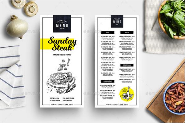 Restaurant Sunday Menu Design