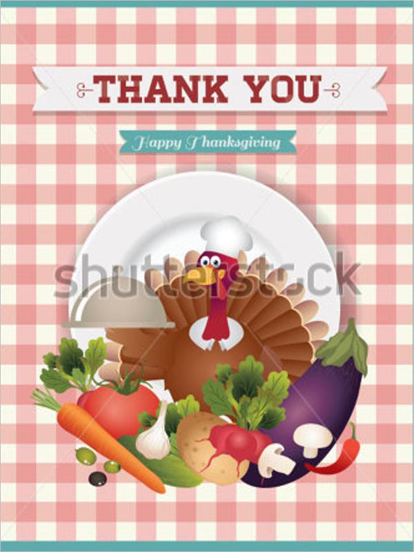 Restaurant Thank You Vector Template