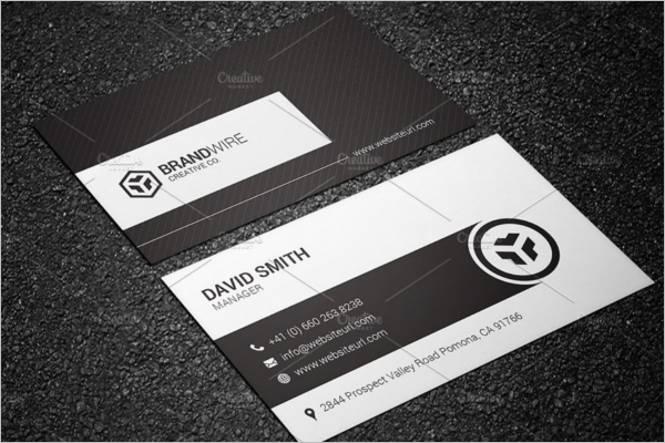 Retro Black & White Business Card Template