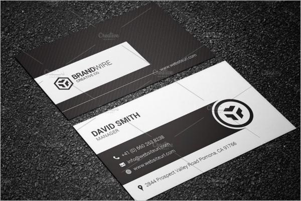 Retro Black & White Business Card Template