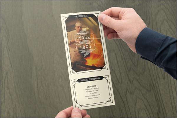 retro brochure design example
