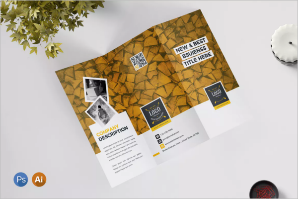 Retro Brochure Design PSD