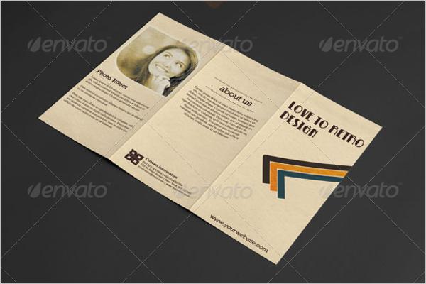 Retro Brochure PSD Design