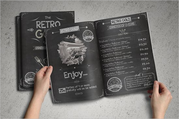 Retro Cafe Menu Design