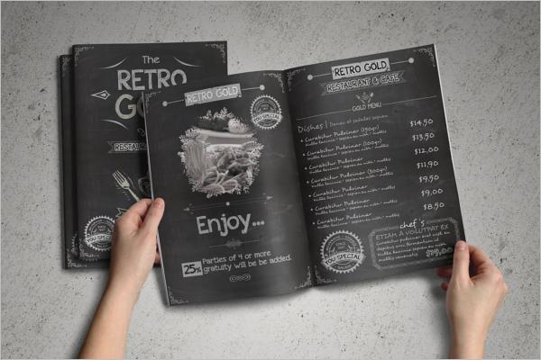 RetroCafe Menu Design Template