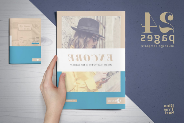 Retro Catalog Brochure Design