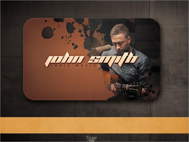 Retro DJ Business Card Template