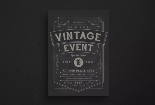 Retro Event Flyer Design