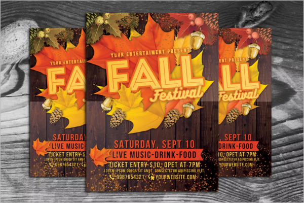 Retro Fall Flyer Template