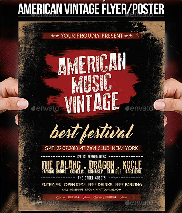 42 vintage flyer templates free word psd designs retro flyer template maxwellsz