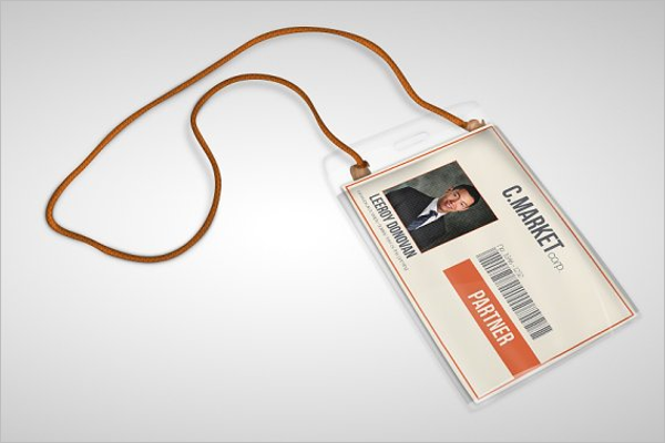Retro ID Card Template