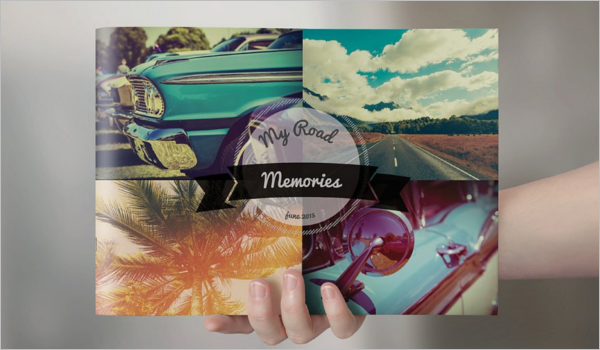 Retro Landscape Brochure Template