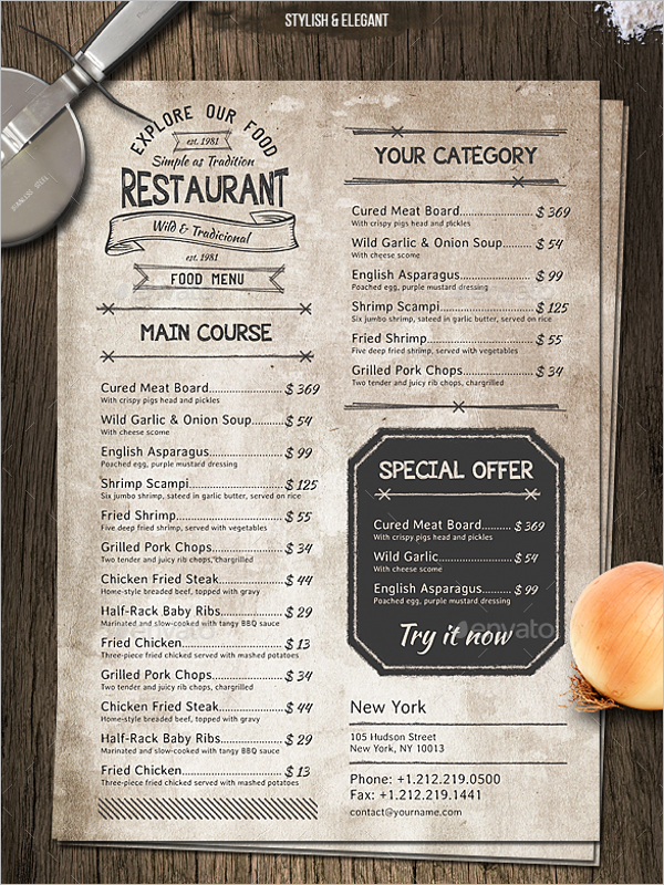 Retro Menu Design Template