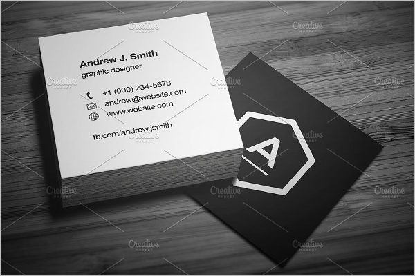 Retro Square Business Card Template