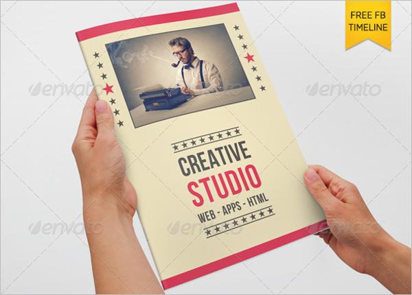 Retro Style Brochure Template