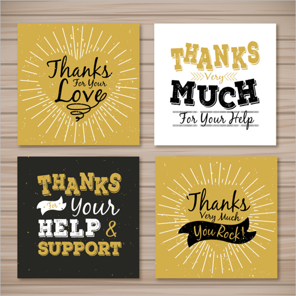 Retro Thank You Card Design Bundle