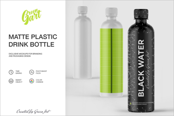 Reusable Water Bottle Mockup