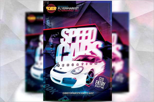 Road Racing Flyer Template